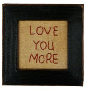 Primitives Love You More Stitchery